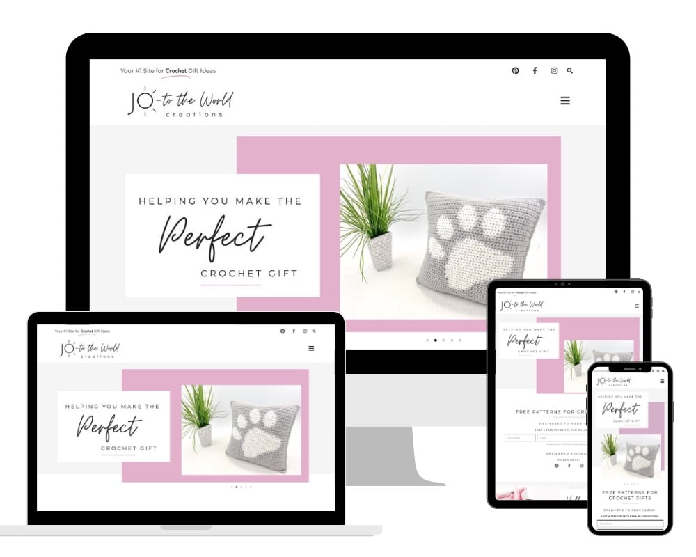 Jo to the World Creations Responsive Website