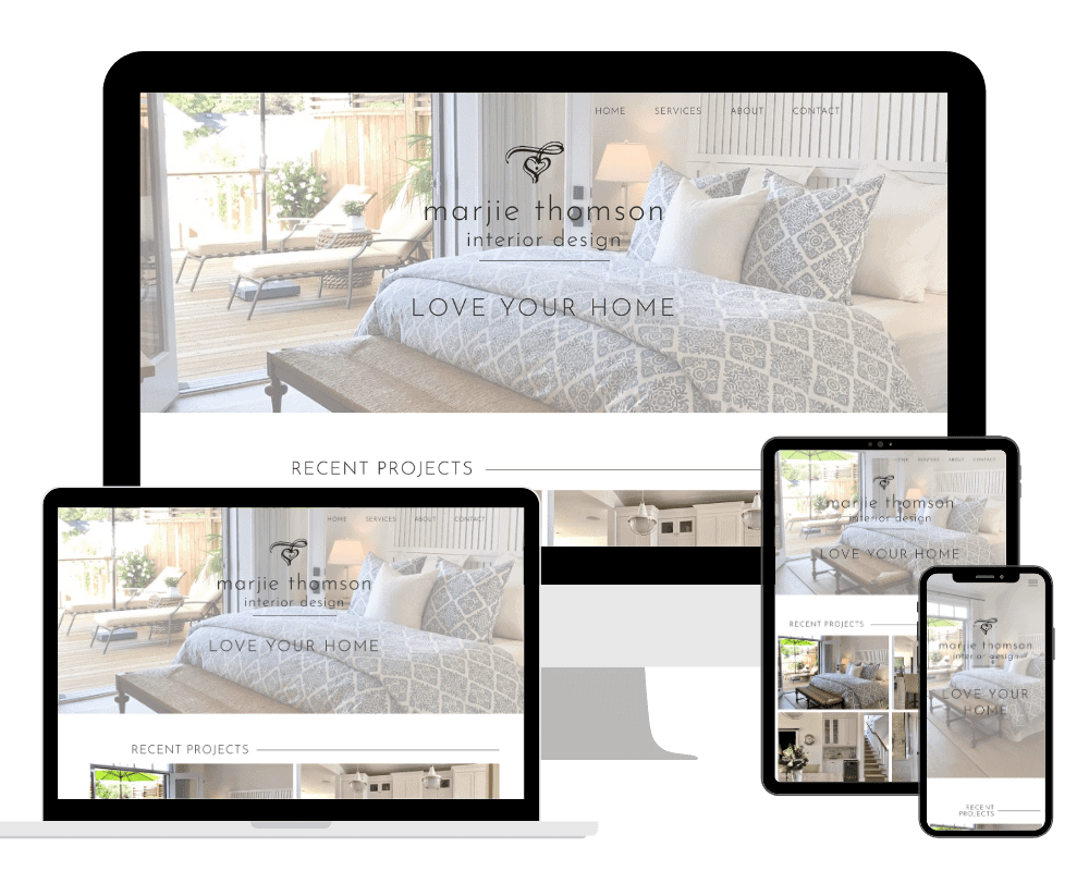 Marjie Thomson Interior Design Responsive Website