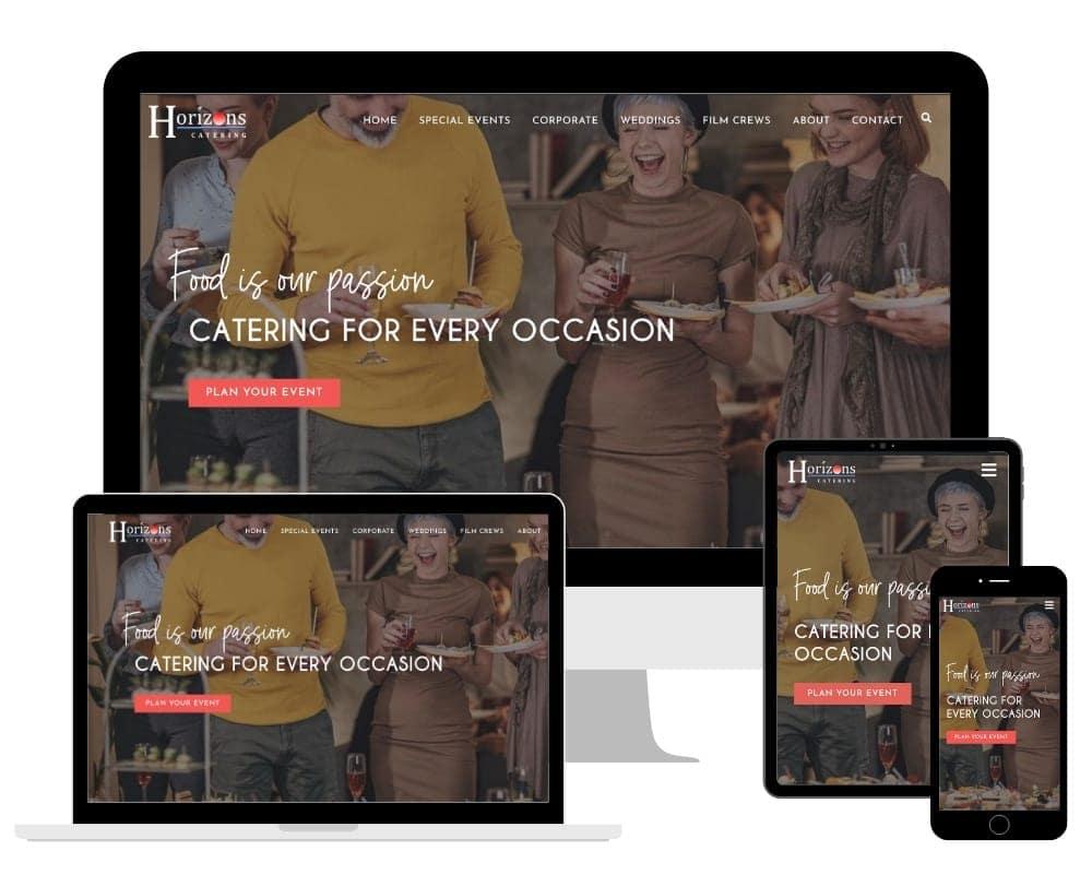 Horizons Catering Responsive Website