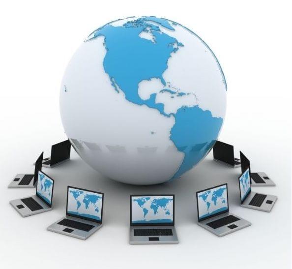 Same computers around a globe