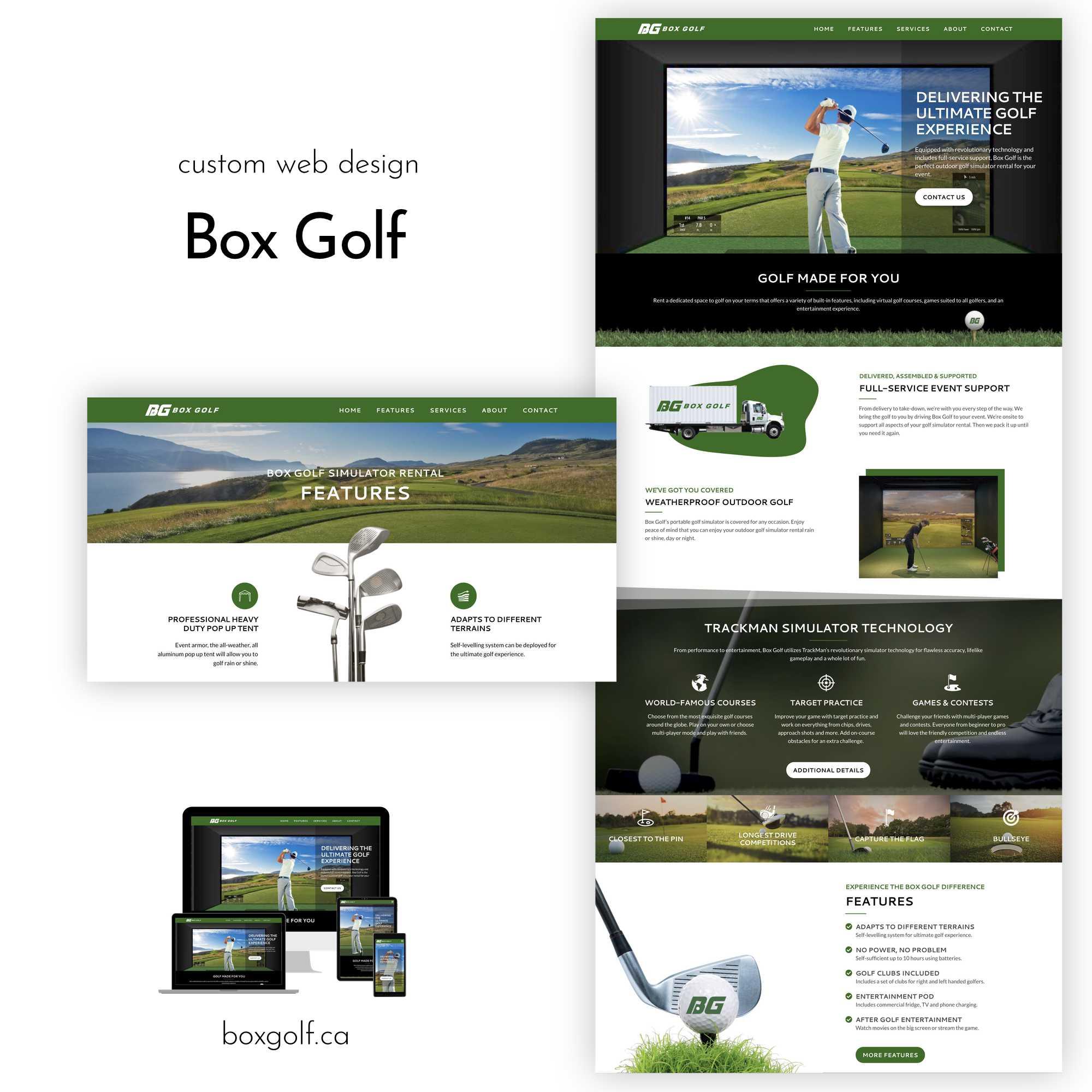 Box Golf Website Portfolio