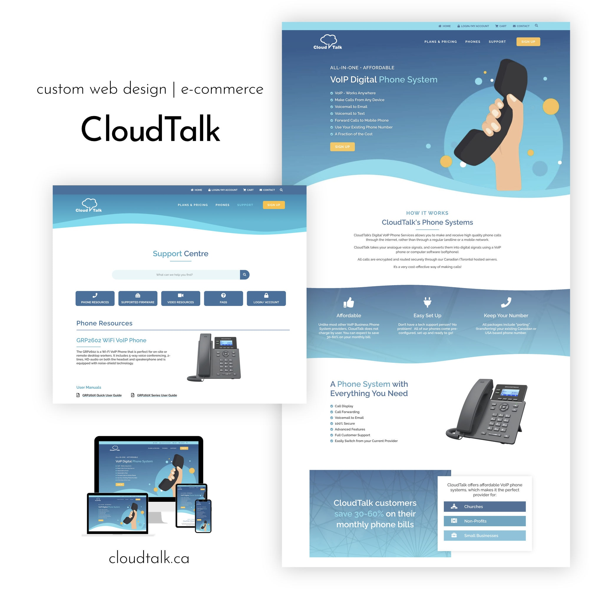 CloudTalk Website for Portfolio